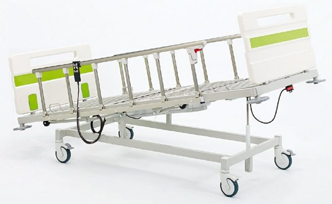 HOSPITAL BED WITH TWO MOTORS