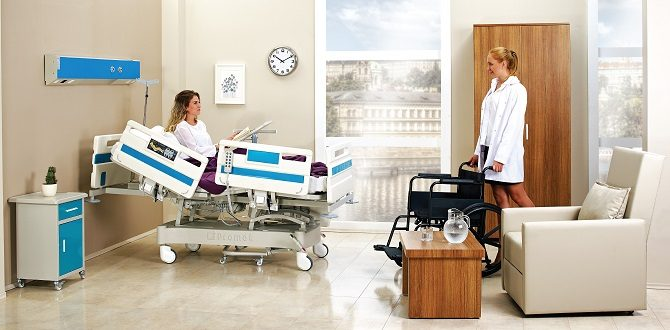 ABS HOSPITAL BED WITH FOUR MOTORS
