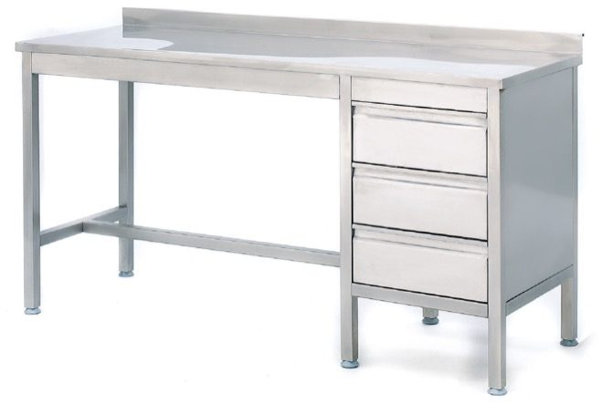 WORKING TABLE WITH DRAWERS