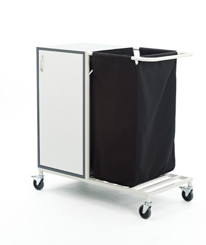 METAL LAUNDRY TROLLEY