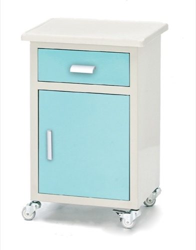 METAL BEDSIDE CABINET WITH ABS TRAY