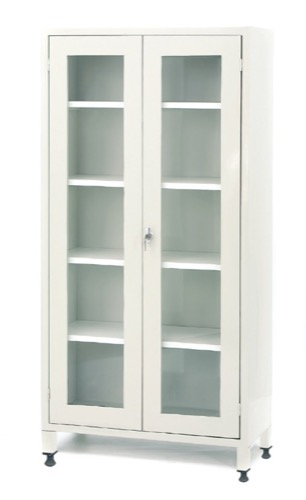 Medicine Cabinet With Double Glass Doors Promek Medical