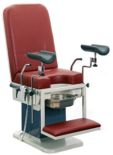 GYNECOLOGICAL EXAMINATION COUCH WITH COLUMN MOTOR