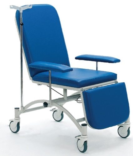 BLOOD DRAWING AND DIALYSIS CHAIR WITH GAS-SPRING