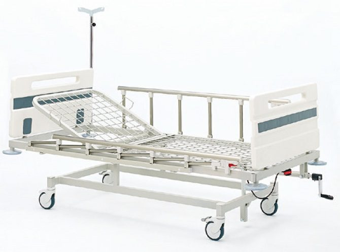 ABS MECHANICAL HOSPITAL BED WITH SINGLE ADJUSTMENT