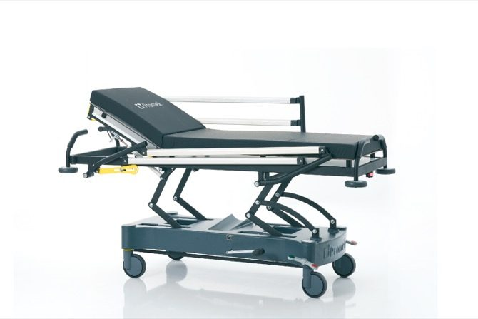 HYDRAULIC STRETCHER WITH ALUMINIUM SIDE RAILS