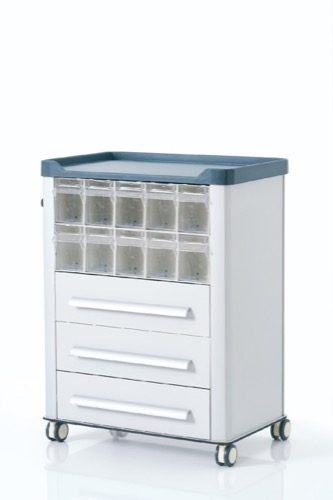 MEDICINE AND TRATMENT CART WITH ABS TOP