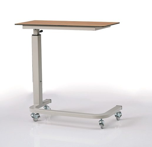 OVER BED TABLE WITH COMPACT LAMINATED TRAY