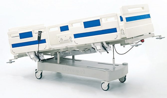 ABS HOSPITAL BED WITH TWO MOTORS