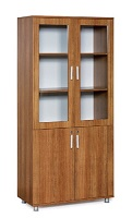 FILE CABINET WITH GLASS DOORS
