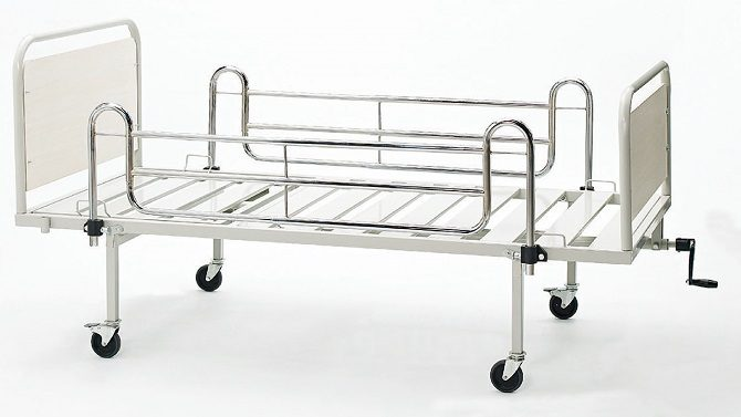 MECHANICAL HOSPITAL BED WITH SINGLE ADJUSTMENT