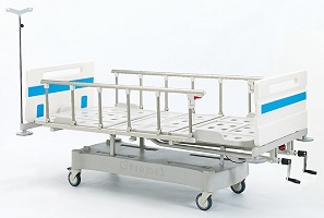 ABS MECHANICAL HOSPITAL BED WITH THREE ADJUSTMENTS