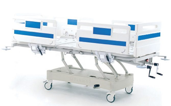 ABS HOSPITAL BED WITH HYDRAULIC HEIGHT ADJUSTMENT