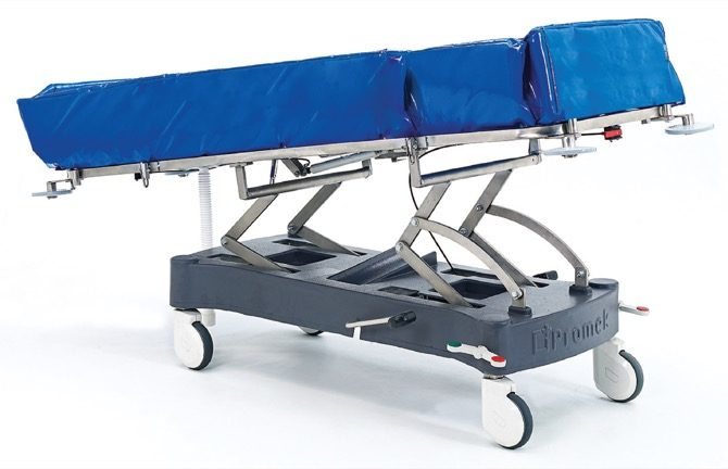 STAINLESS STEEL HYDRAULIC SHOWER TROLLEY